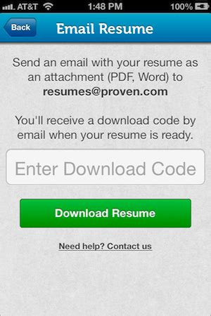 how to upload resumes to your iphone or proven