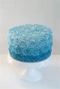 teal wedding decorations aqua blue ombre rosette cake photo by fakecupcakecreations