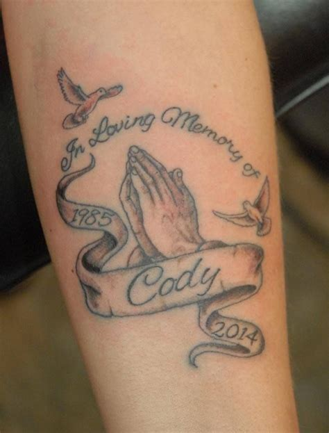 praying hands tattoo   lost loved  tattoos