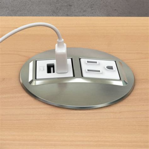 desk outlets node power data desk grommet outlet cableorganizer