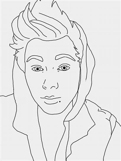 Coloring Celebrity Pages Drawings Luke Line Hemmings