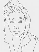 Coloring Celebrity Pages Drawings Luke Line Hemmings 5sos Sketch Designlooter Sam 1024px 73kb sketch template