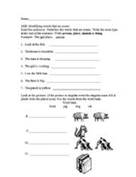 worksheet year 1 english kssr upsr english paper 2