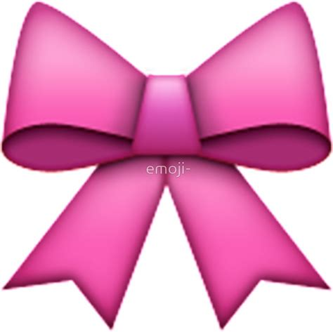 quot emoji pink bow quot stickers by emoji redbubble