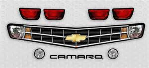 2010 camaro grill headlight decal kits