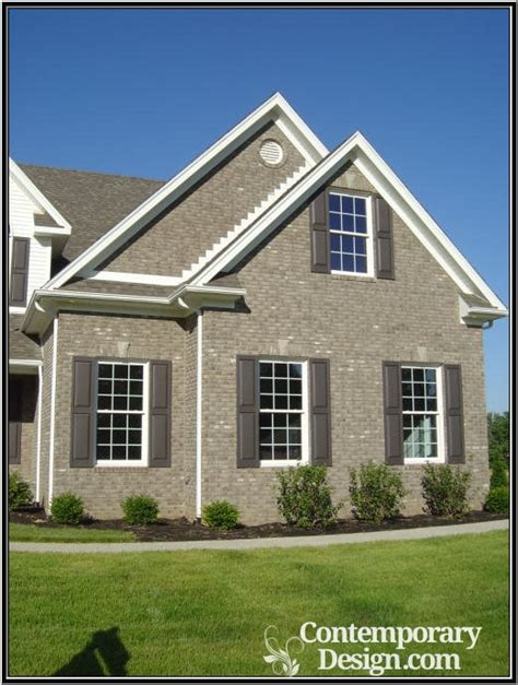 exterior house colors with brick