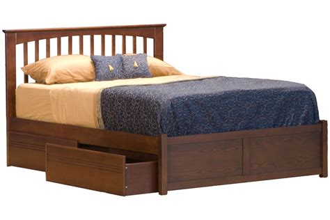 Brooklyn Platform Bed  Flat Panel Footboard