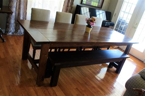 Furniture Dark Brown Wooden Benches With Rectangle Dining