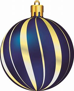 Large Transparent Christmas Gold and Blue Ornament ...