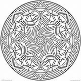 Coloring Pages Adults Pattern Printable Hard Geometric Getcolorings sketch template
