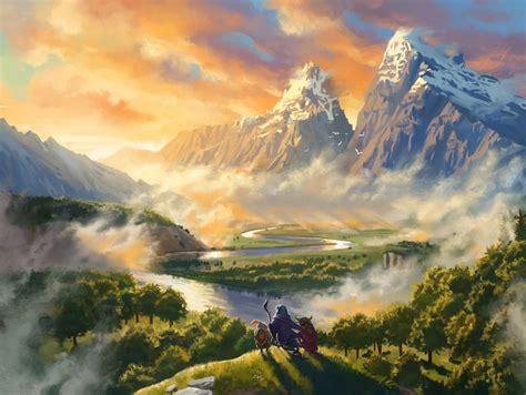 Wallpaper : landscape, fantasy art, artwork, illustration ...