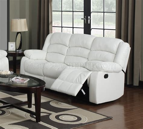 White Leather Loveseat by G947 Motion Sofa Loveseat In White Bonded Leather By