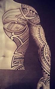 Tattoo Homme Bras : samoa tattoo bras entier pectoral cote homme sleeve chest side 349 570 cool tattoos ~ Melissatoandfro.com Idées de Décoration