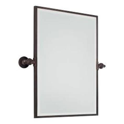 pivot bathroom mirror bronze 24 inch brushed bronze rectangular pivoting mirror