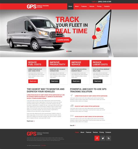 transport website template trucking responsive website template 49381