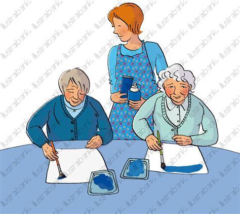 animatrice maison de retraite activit 233 plastique avec personnes 226 g 233 es coloris 2 illustration libre de droit sur