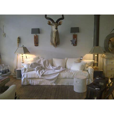 canap駸 home spirit canape en canap 5 places en lav blanc barcelone maisons du monde canap en