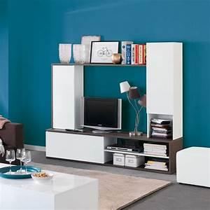 Fixer Une Télé Au Mur : amparo grand meuble tv fixer au mur moderne salon ~ Premium-room.com Idées de Décoration