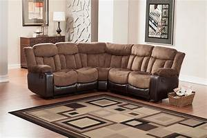 homelegance vera reclining sectional sofa chocolate With c sectional couches