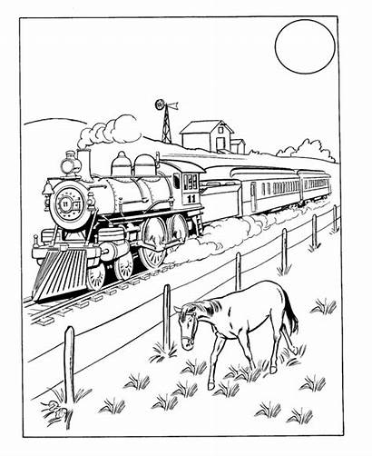 Train Coloring Pages Trains Sheets Steam Engine