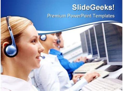call center executives business powerpoint templates