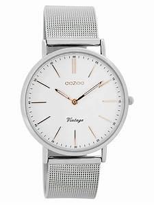 Vintage Uhren Damen : oozoo vintage damen armbanduhr wei silber 36 mm c7396 ~ Watch28wear.com Haus und Dekorationen