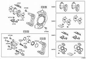 Toyota Camry Disc Brake Caliper Bracket  Left  Right