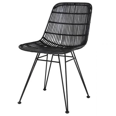 chaise en rotin but hk living rattan dining chair black hk living interiors