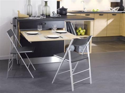 Table Pour Cuisine - cuisine 12 astuces gain de place côté maison