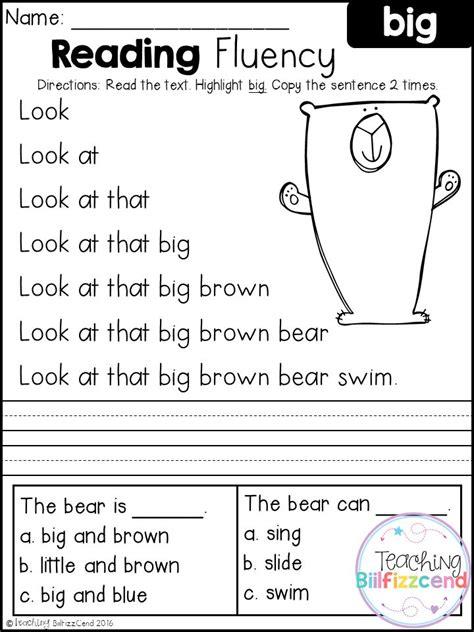 kindergarten free reading worksheets worksheets for all