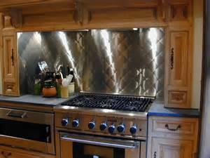 Kitchen Stainless Steel Backsplash Stainless Steel Backsplash Custom Contemporary Kitchen Other Metro By Custom