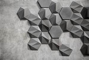 San: Geometric Concrete Wall Decoration by Bentu Design