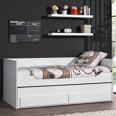 canapé lit tiroir lit banquette laque blanc avec tiroirs robinson zd1 l e