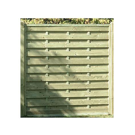 square horizontal fence panel