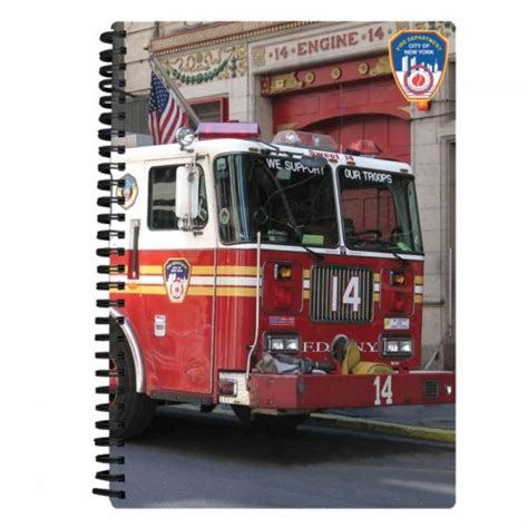firetruck notebook fdny shop