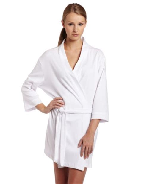 robe de chambre coton seven apparel 00134 hotel spa collection kimono knit