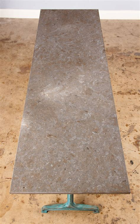 1920s granite top bistro table by fischel at 1stdibs