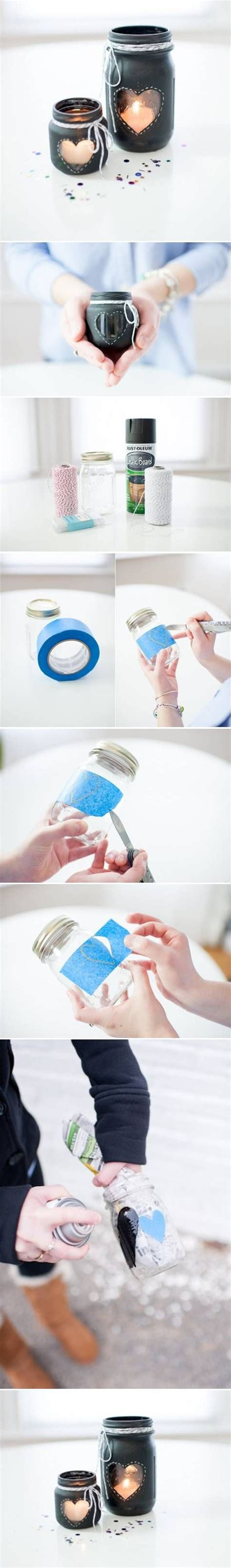 Glass Candle Holders Diy Perserving Jar Satine Paint by Diy Glass Jar Candlestick This Is Really And With A