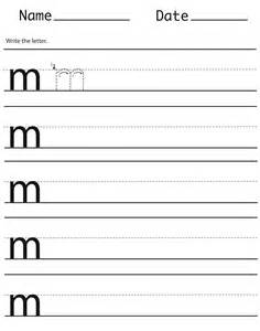 Lowercase Letter M Handwriting Worksheet