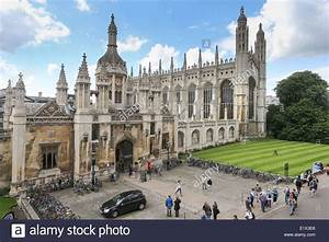 KING'S COLLEGE CAMBRIDGE CHAPEL FROM THE FRONT Stock Photo ...