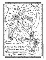Coloring Witch Halloween Pages Adult Colouring Owl Adults Printable Fantasy Books Witches Printables Sheets Cute Woojr Bestcoloringpagesforkids Postcard Shopkins Activities sketch template
