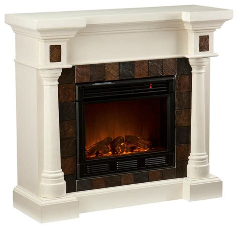 weatherford convertible electric fireplace ivory