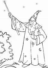 Merlin Coloring Wizard Wand Magic Magician Bulkcolor Colouring Pipe Template sketch template