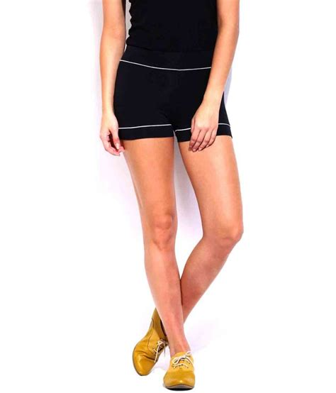 short espresso buy espresso black cotton lycra shorts online at best