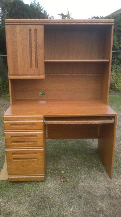 used computer desk with hutch oak computer desk with hutch saanich victoria