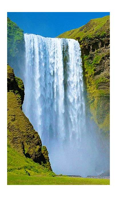 Waterfall Nature Paisajes Animated Cascadas Landscapes Scenic