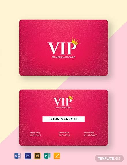 membership card templates word  psd