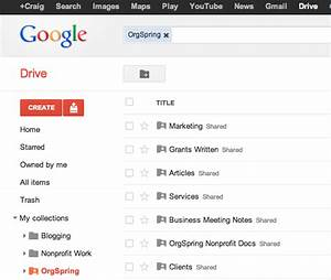 Google drive features walkthrough for nonprofits orgspring for Google drive create documents