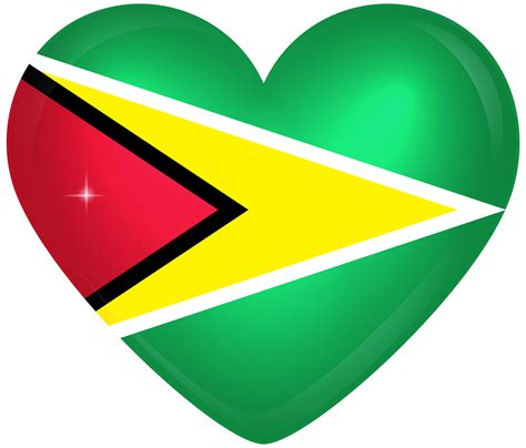guyana large heart flag gallery yopriceville high