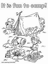 Coloring Summer Camping Sheets Fun Preschool Reading Worksheets Tent Friends Printable Theme Campfire Activities Kleurplaat Bee Kleurplaten Inspirational Colorir Birijus sketch template